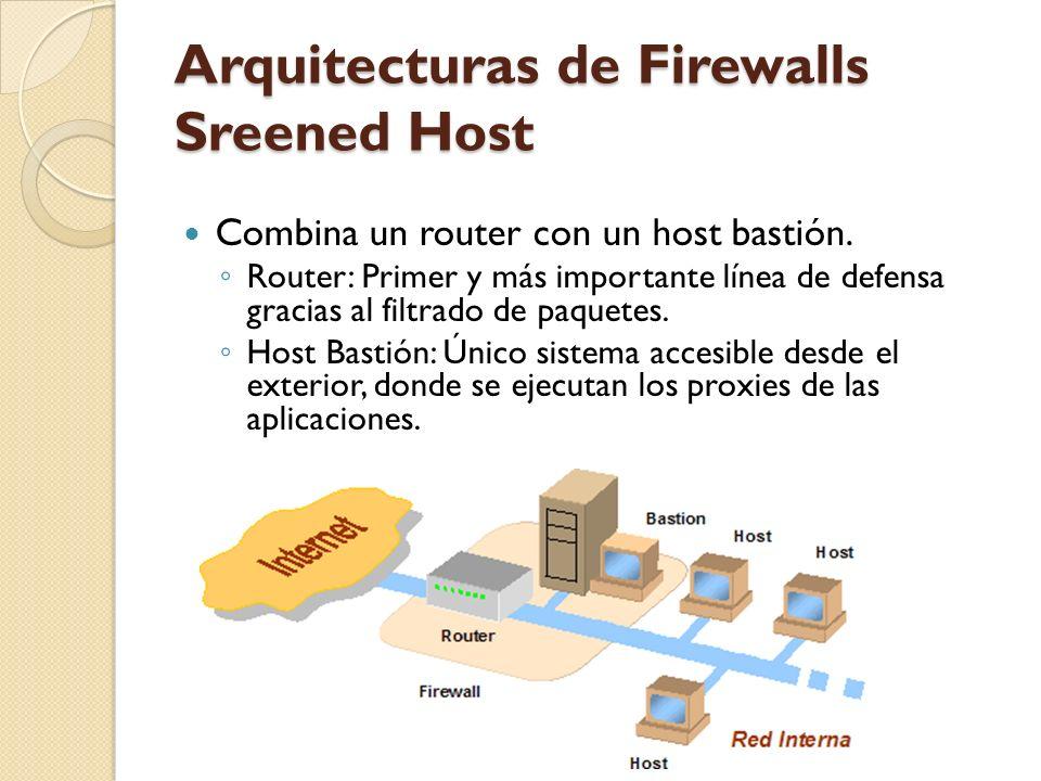 Arquitecturas de Firewalls Sreened Host