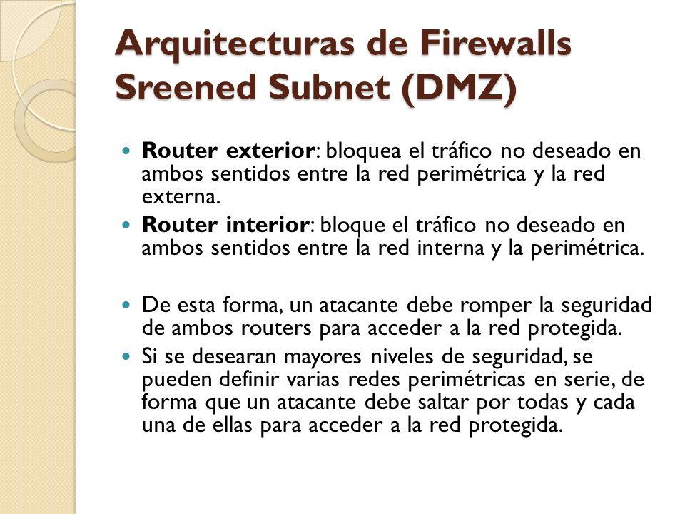 Arquitecturas de Firewalls Sreened Subnet (DMZ)