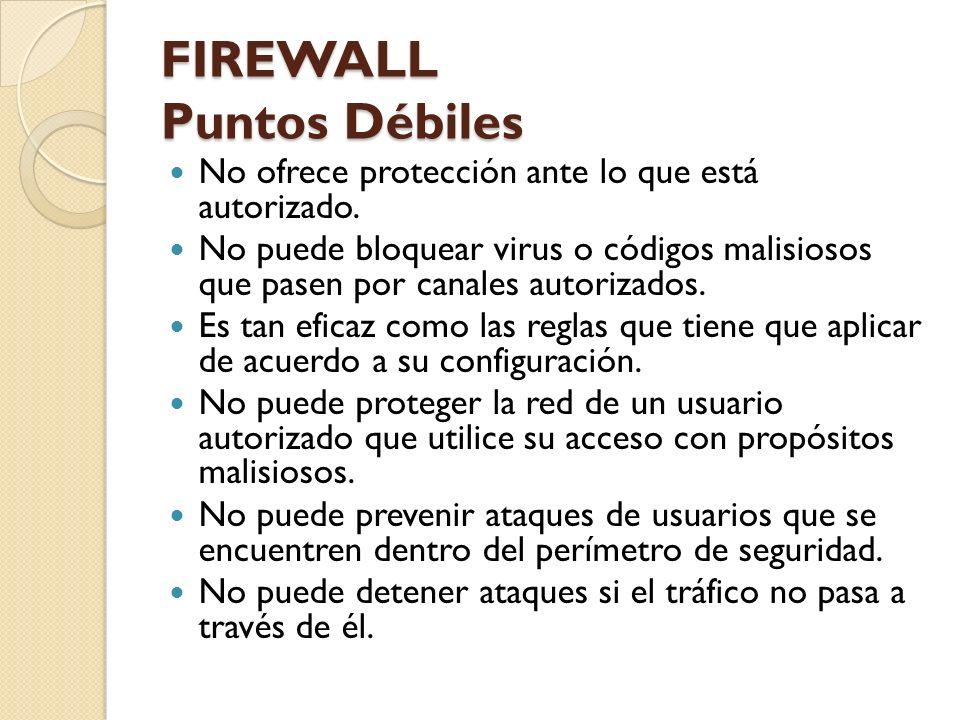 FIREWALL Puntos Débiles
