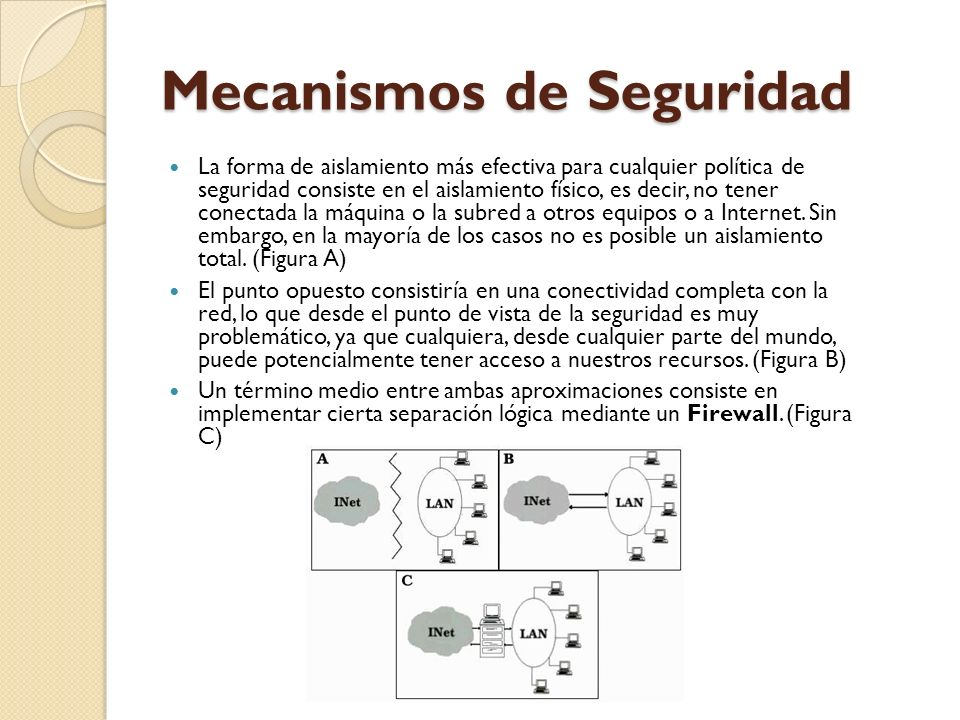 Mecanismos de Seguridad