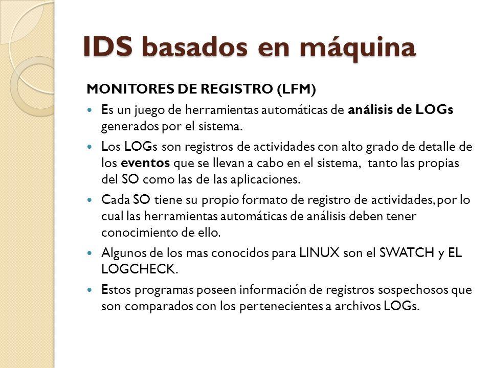IDS basados en máquina MONITORES DE REGISTRO (LFM)