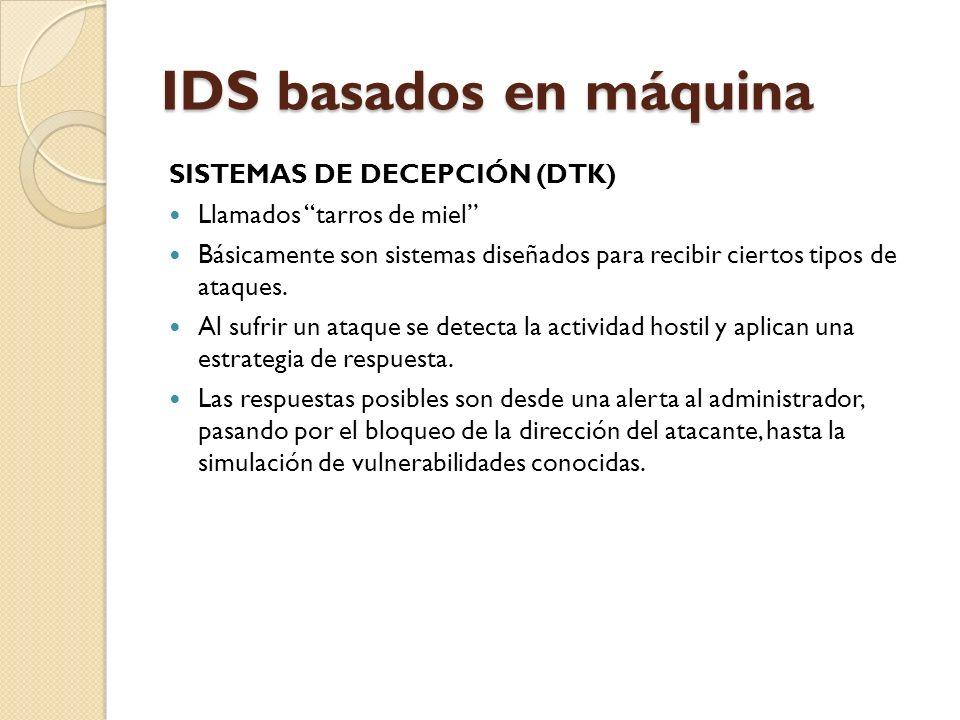 IDS basados en máquina SISTEMAS DE DECEPCIÓN (DTK)