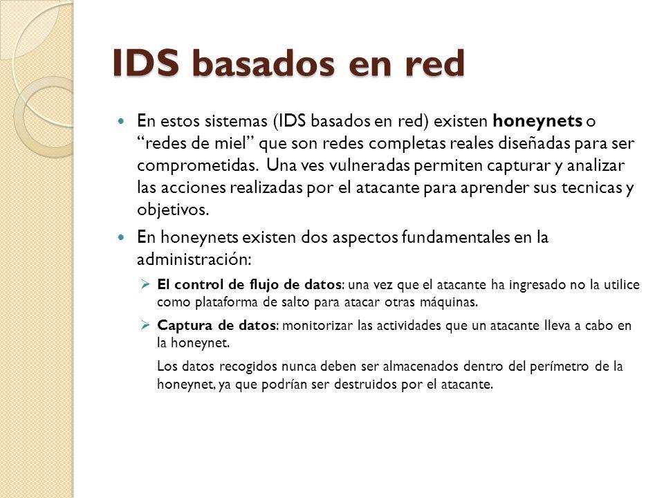 IDS basados en red