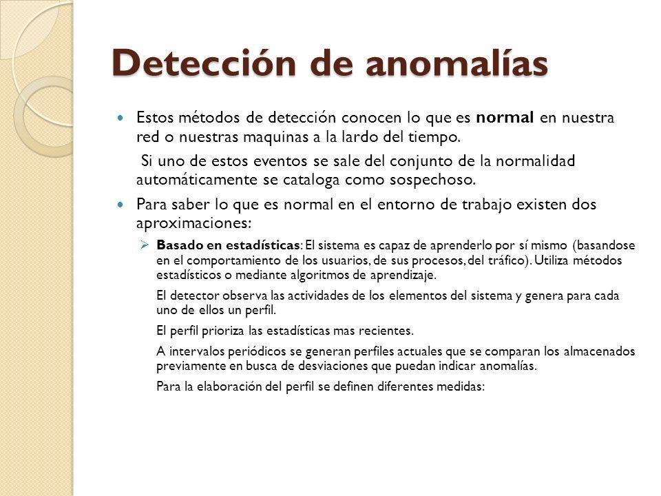 Detección de anomalías