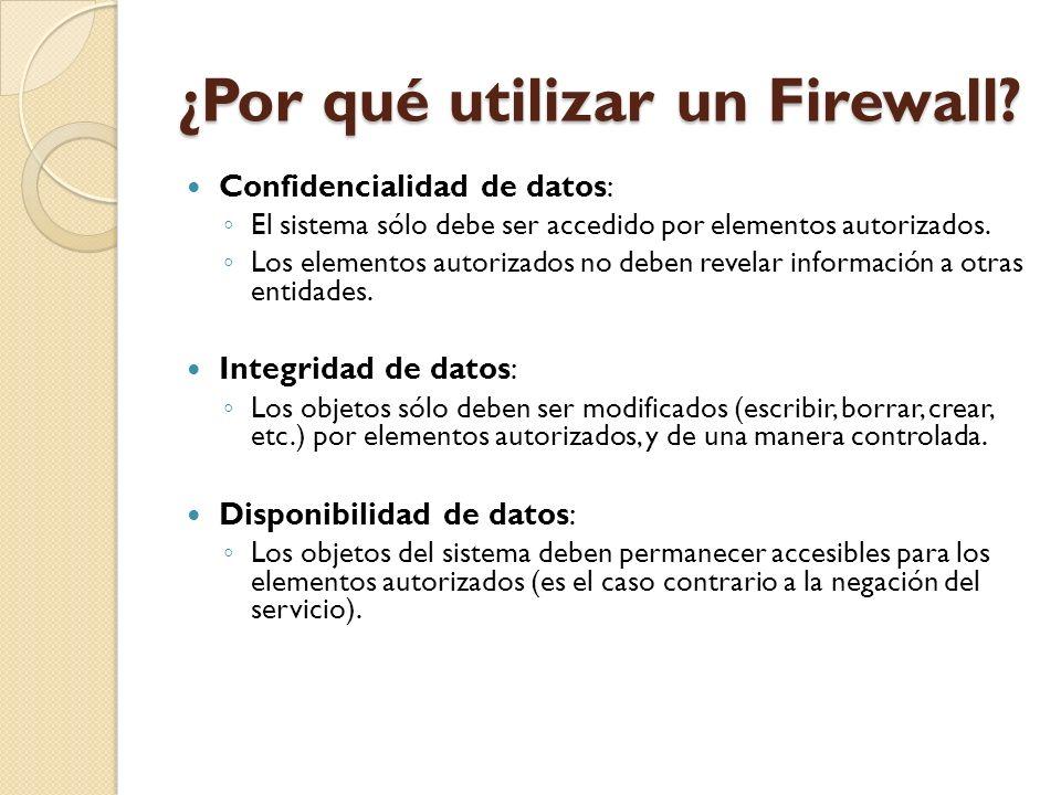 ¿Por qué utilizar un Firewall