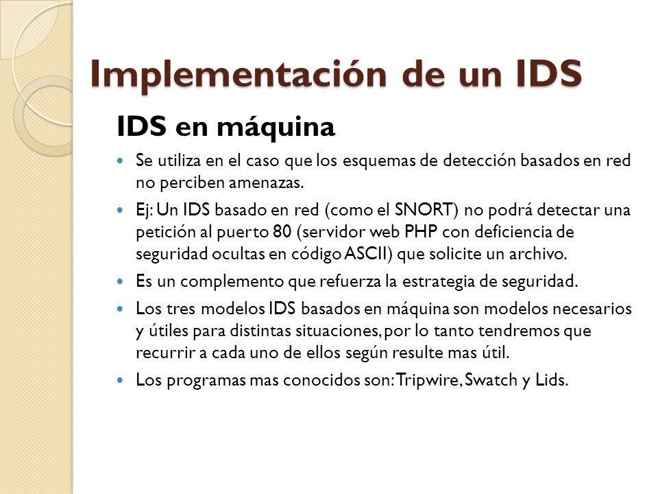 Implementación de un IDS
