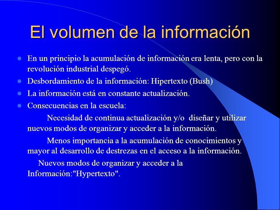 El volumen de la información