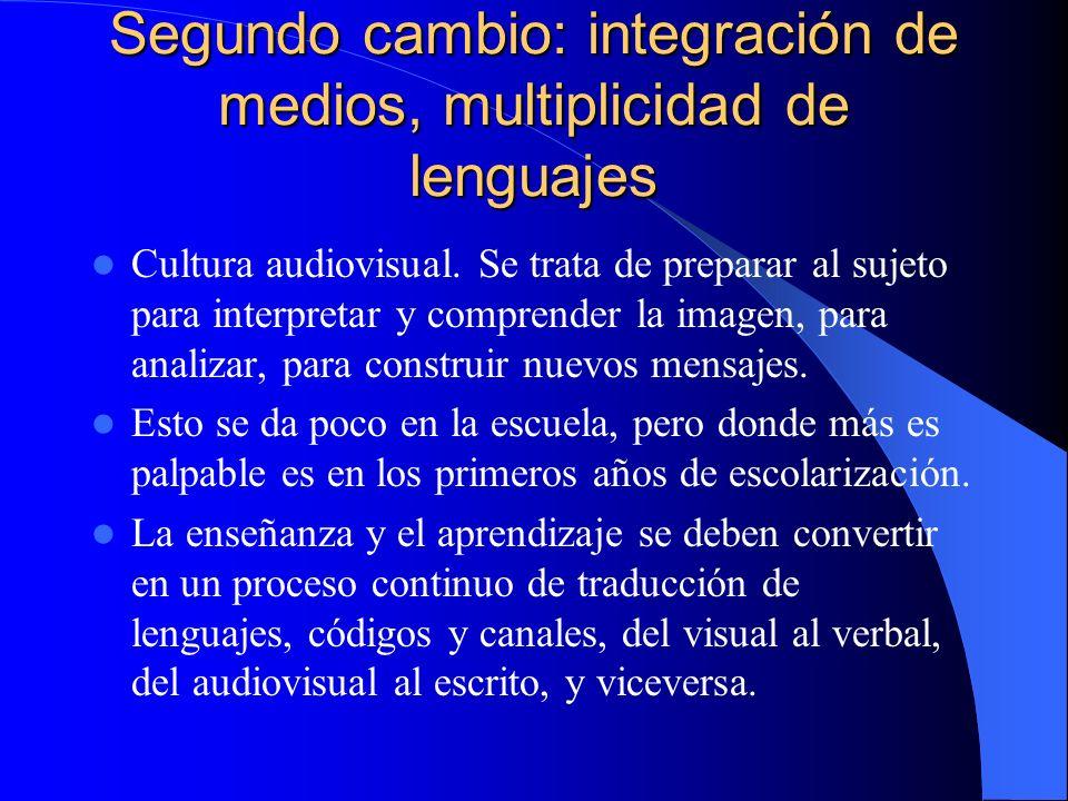 Segundo cambio: integración de medios, multiplicidad de lenguajes