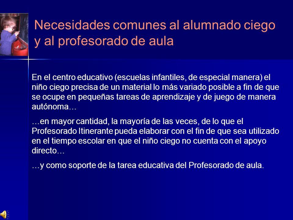 Necesidades comunes al alumnado ciego y al profesorado de aula