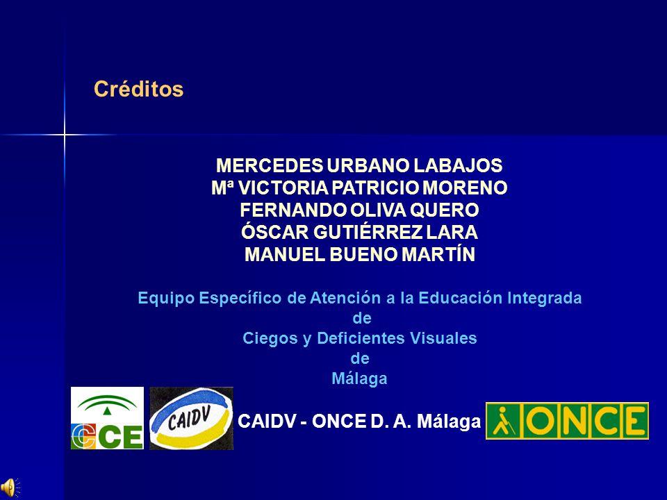 Créditos MERCEDES URBANO LABAJOS Mª VICTORIA PATRICIO MORENO
