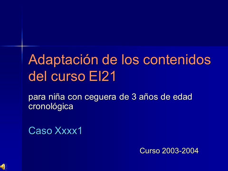 Adaptación de los contenidos del curso EI21