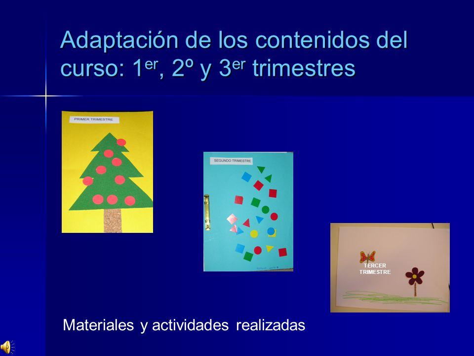 Adaptación de los contenidos del curso: 1er, 2º y 3er trimestres