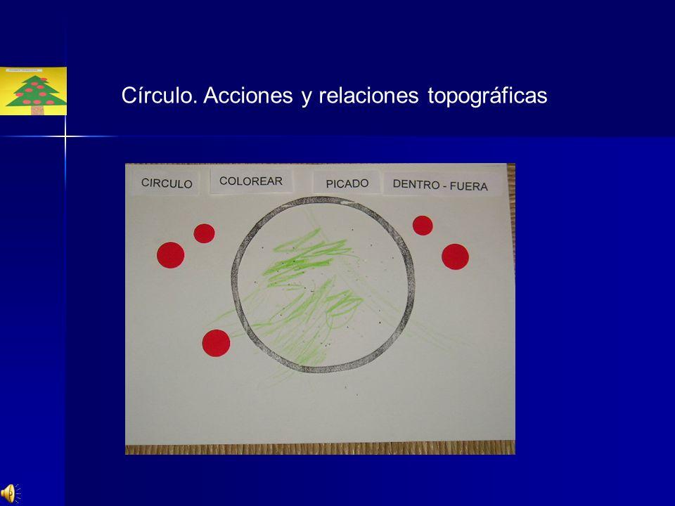 Círculo. Acciones y relaciones topográficas
