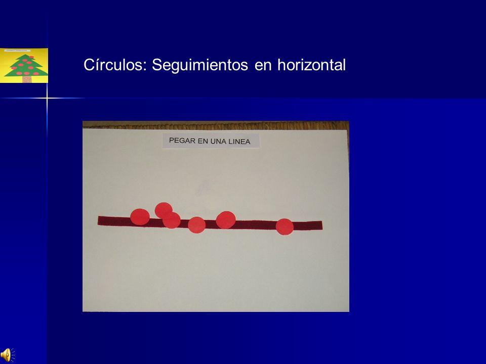 Círculos: Seguimientos en horizontal