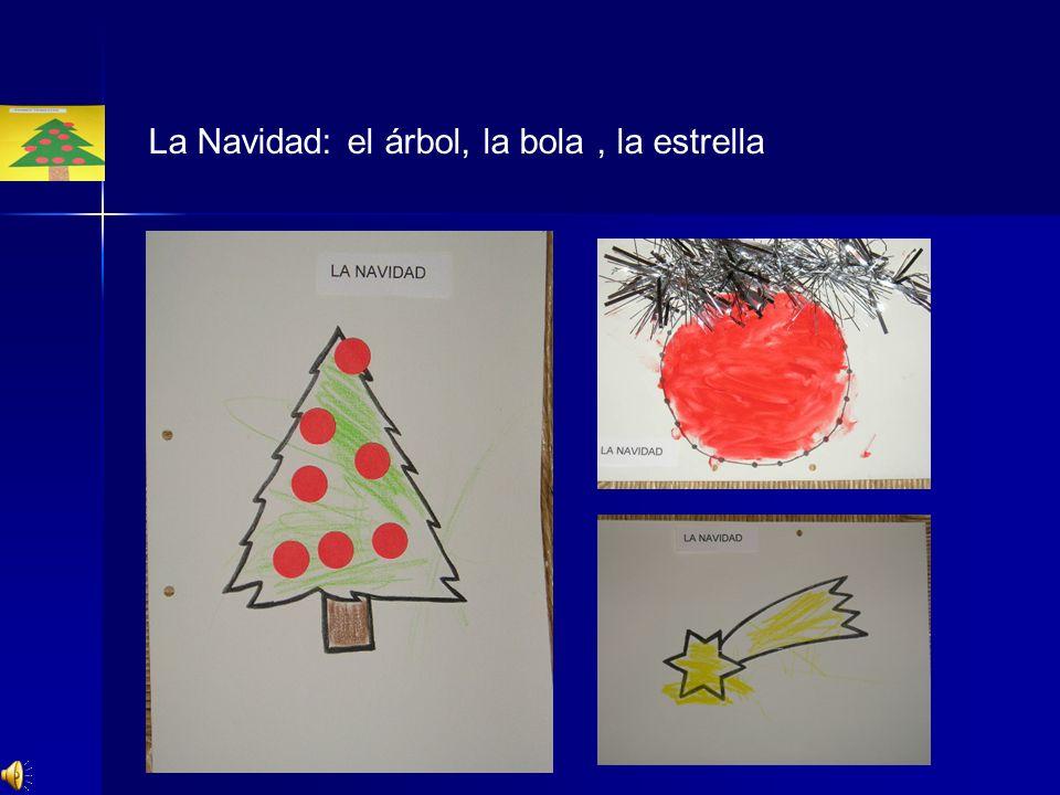 La Navidad: el árbol, la bola , la estrella