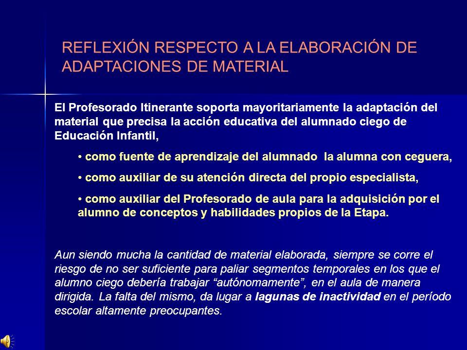 REFLEXIÓN RESPECTO A LA ELABORACIÓN DE ADAPTACIONES DE MATERIAL