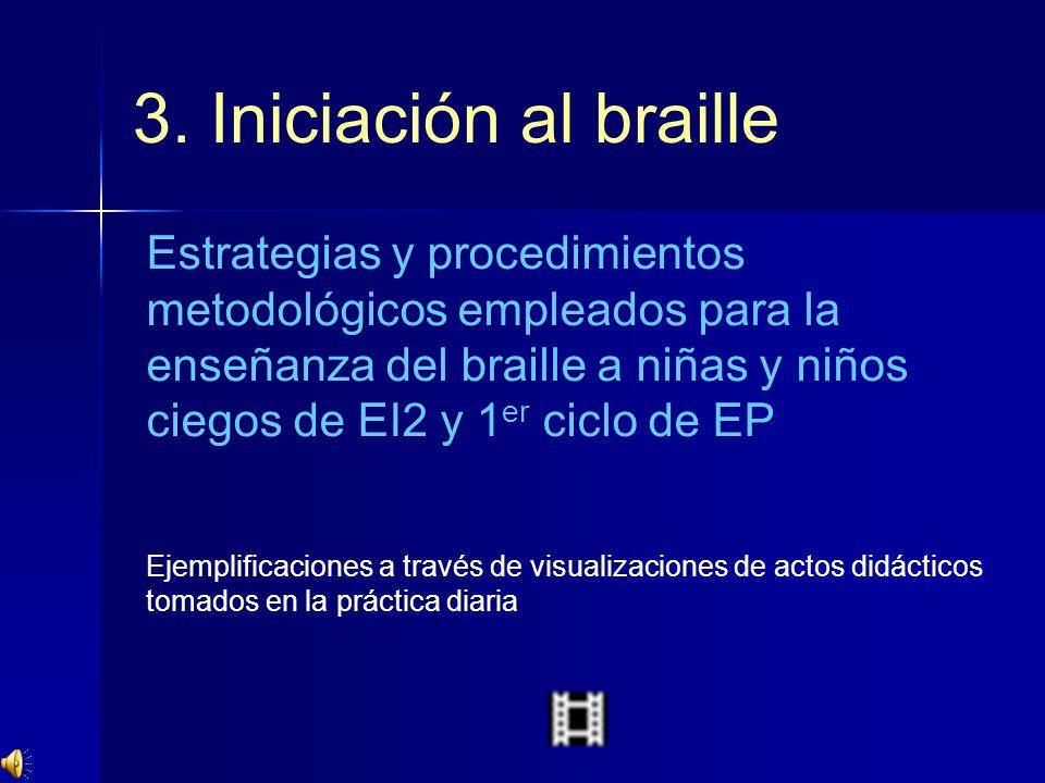 3. Iniciación al braille