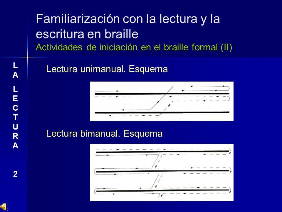 Familiarización con la lectura y la escritura en braille Actividades de iniciación en el braille formal (II)