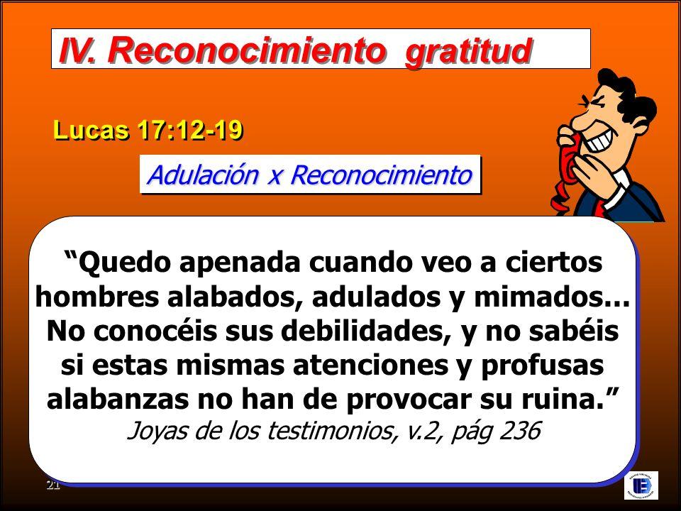 IV. Reconocimiento gratitud