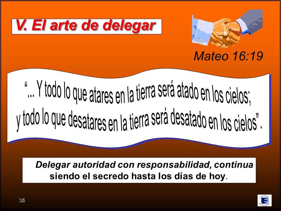 V. El arte de delegar Mateo 16:19