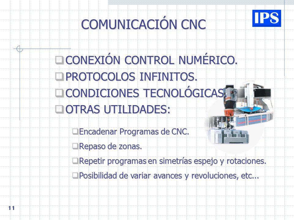 COMUNICACIÓN CNC CONEXIÓN CONTROL NUMÉRICO. PROTOCOLOS INFINITOS.