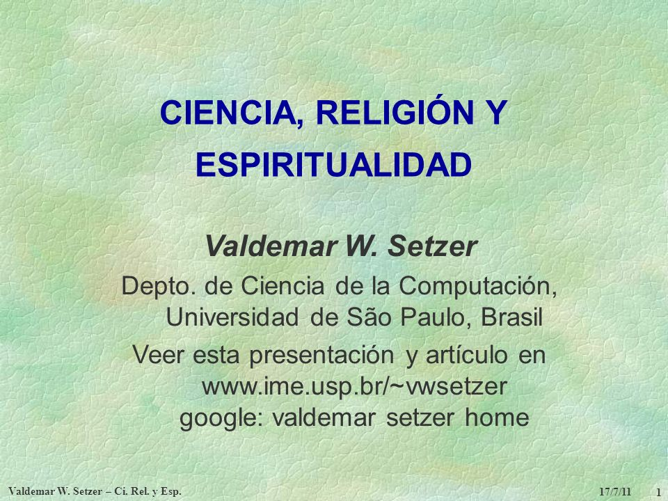 CIENCIA, RELIGIÓN Y ESPIRITUALIDAD