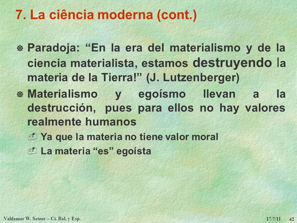 7. La ciência moderna (cont.)