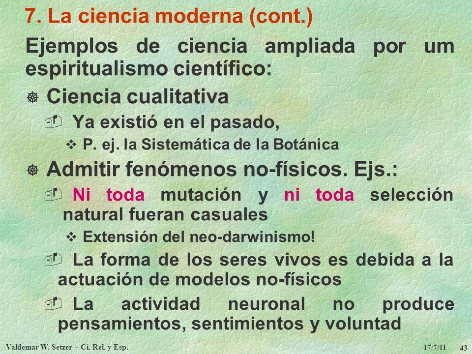 7. La ciencia moderna (cont.)