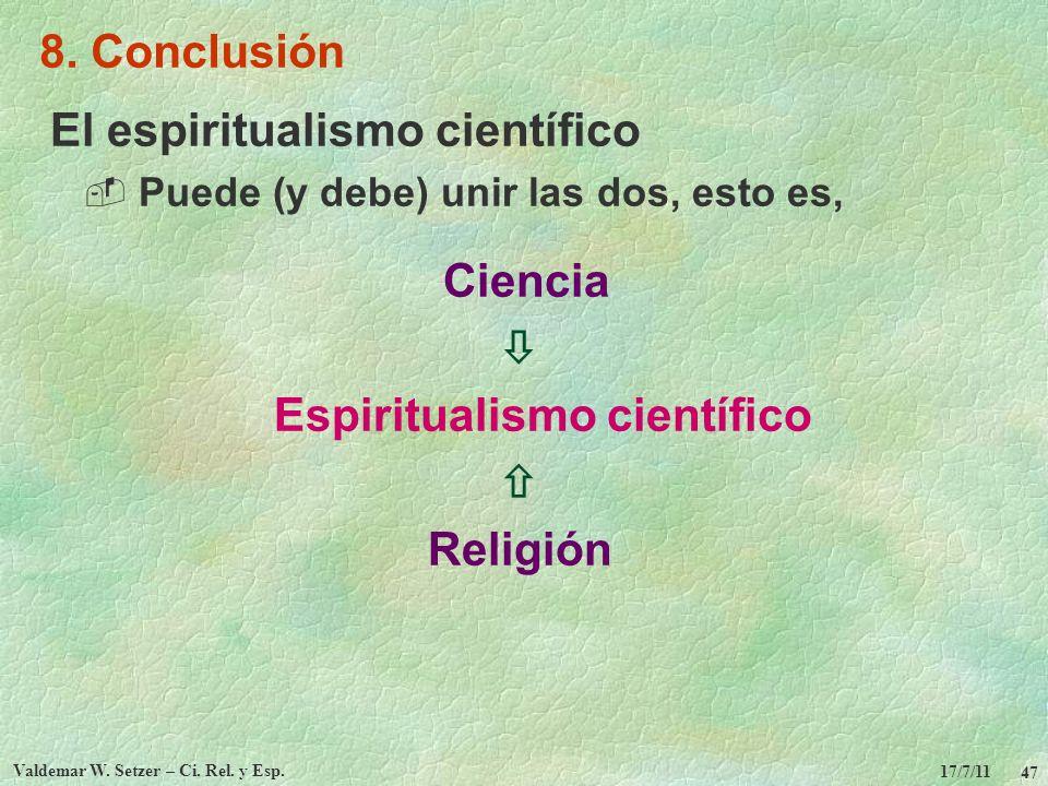 Espiritualismo científico Valdemar W. Setzer – Ci. Rel. y Esp.