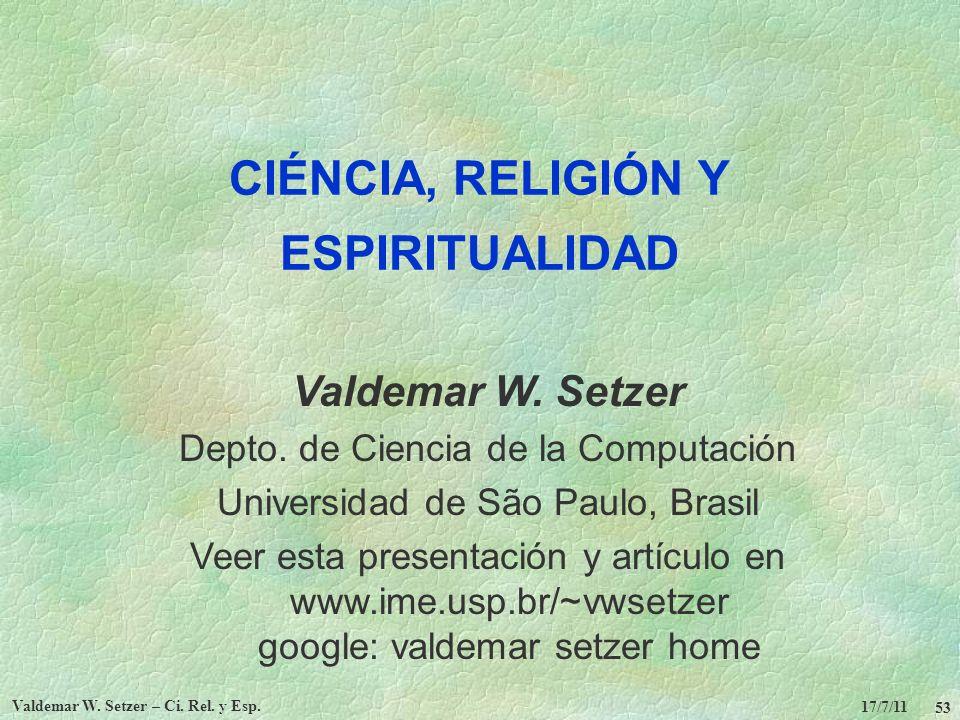 CIÉNCIA, RELIGIÓN Y ESPIRITUALIDAD