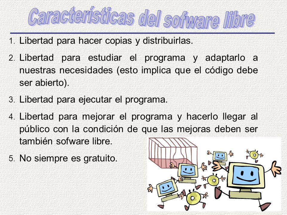 Características del sofware libre