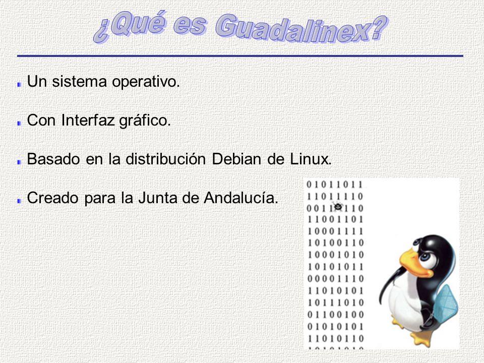 ¿Qué es Guadalinex Un sistema operativo. Con Interfaz gráfico.