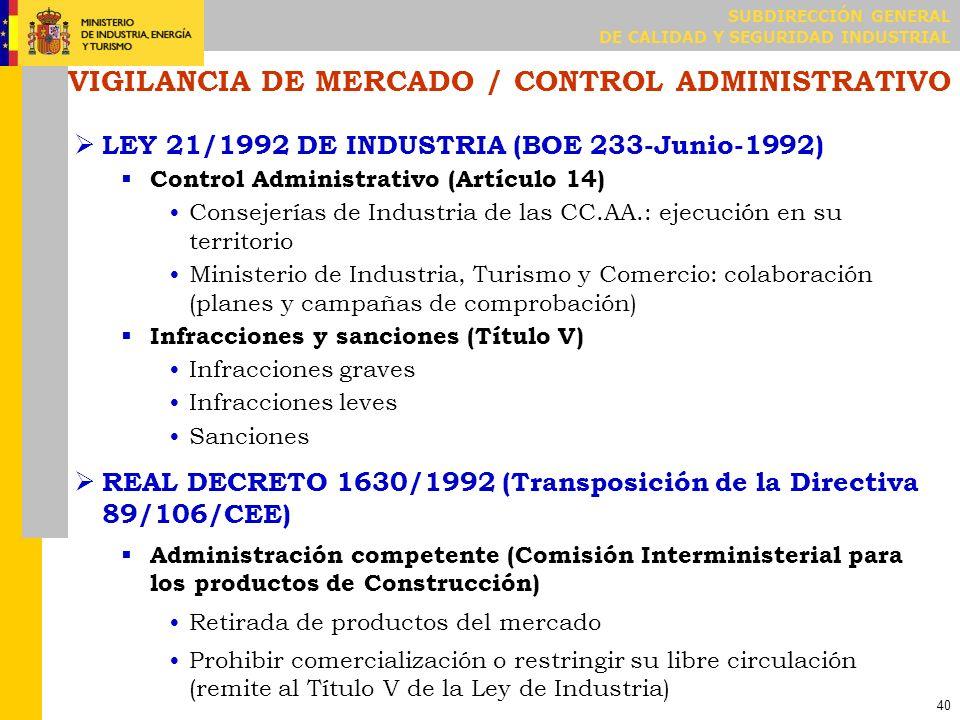 ACCIONES DE VIGILANCIA DE MERCADO