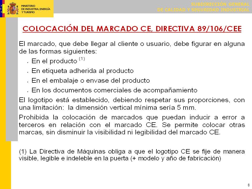 MARCADO CE DIRECTIVA 2006/42/CE (MÁQUINAS)