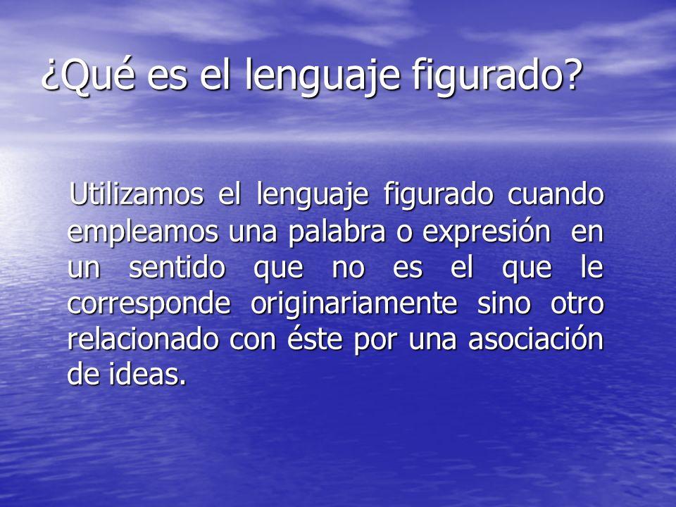 ¿Qué es el lenguaje figurado