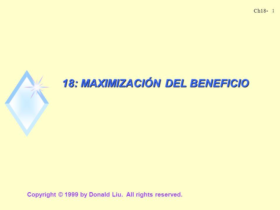 18: MAXIMIZACIÓN DEL BENEFICIO