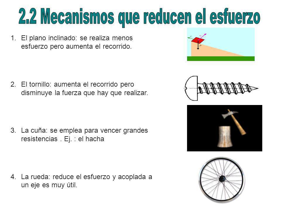 2.2 Mecanismos que reducen el esfuerzo