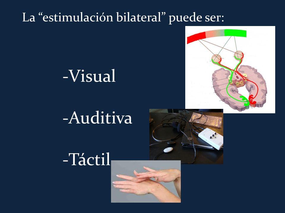 La estimulación bilateral puede ser: