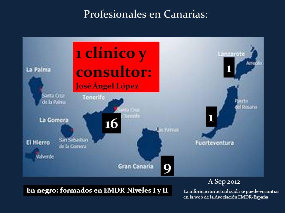 1 clínico y consultor: 1 1 16 9 Profesionales en Canarias: