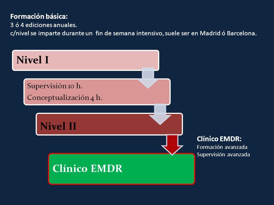 Clínico EMDR Nivel II Nivel I Formación básica: Clínico EMDR: