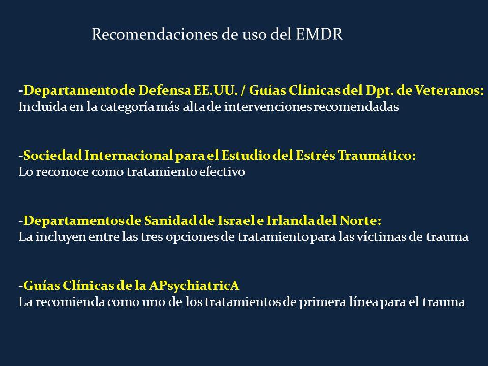 Recomendaciones de uso del EMDR