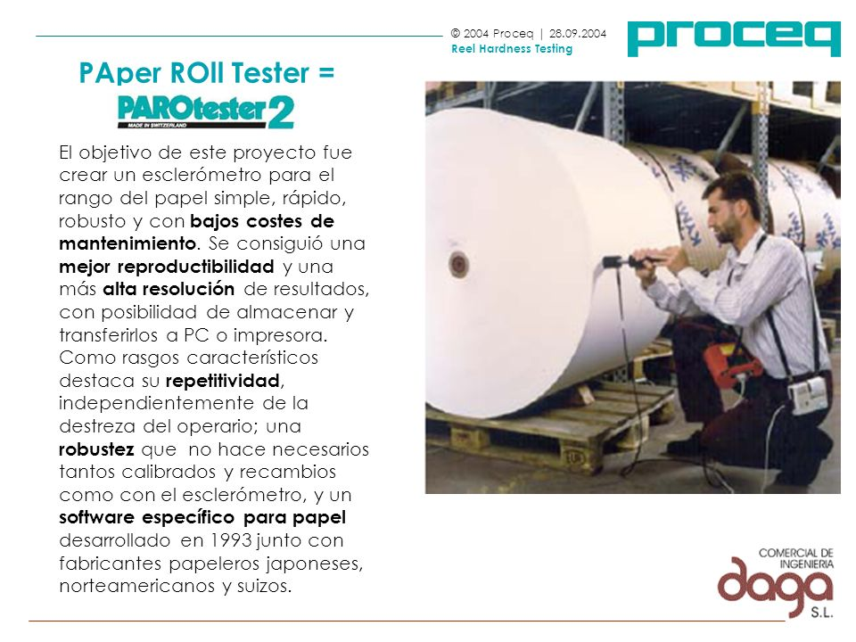 PAper ROll Tester = PAROtester