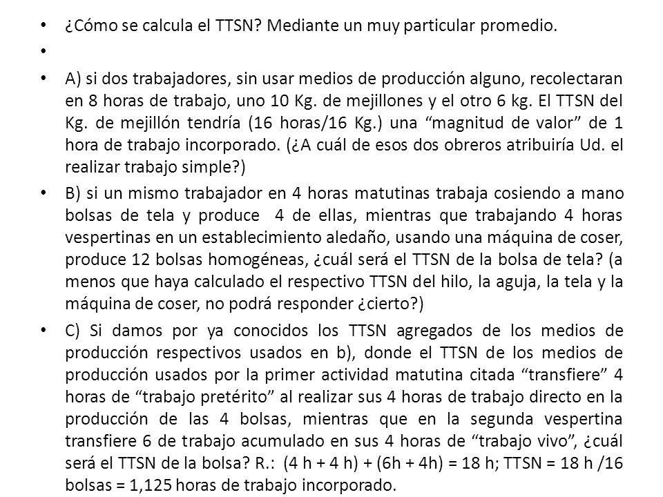 ¿Cómo se calcula el TTSN Mediante un muy particular promedio.