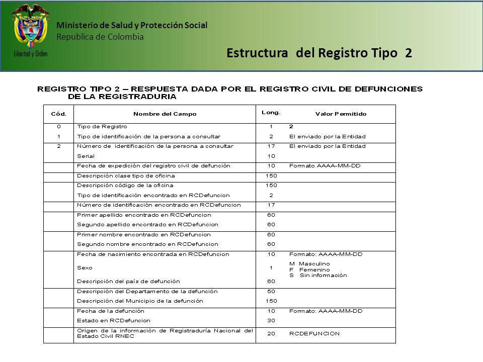 Estructura del Registro Tipo 2