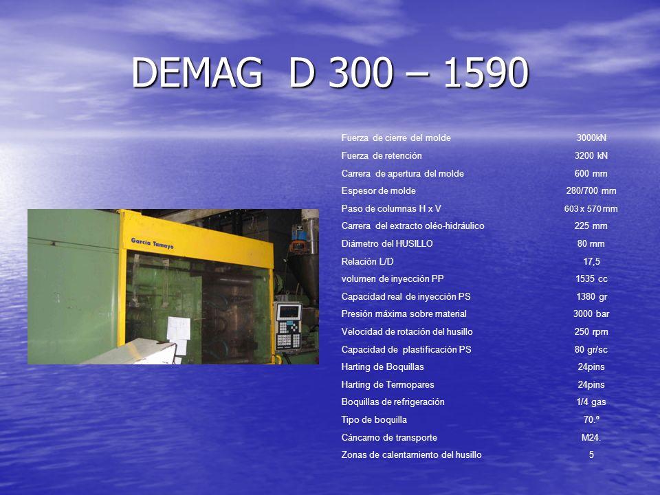 DEMAG D 300 – 1590 Fuerza de cierre del molde 3000kN