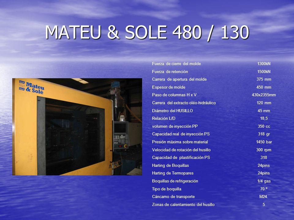 MATEU & SOLE 480 / 130 Fuerza de cierre del molde 1300kN