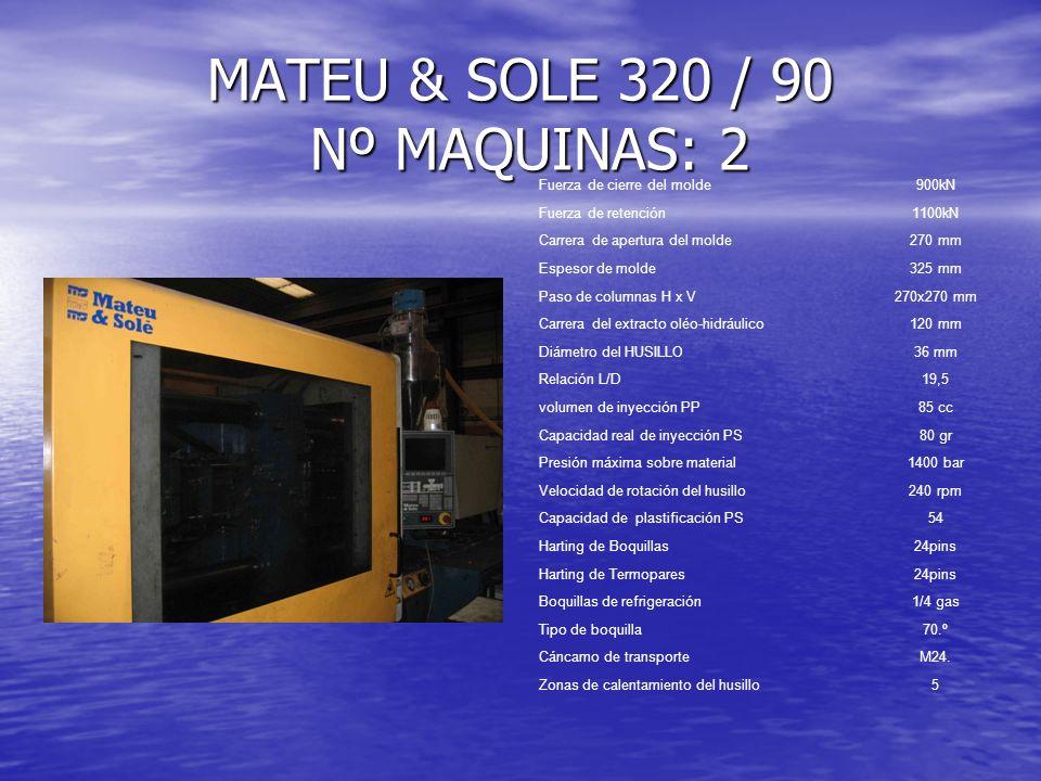 MATEU & SOLE 320 / 90 Nº MAQUINAS: 2