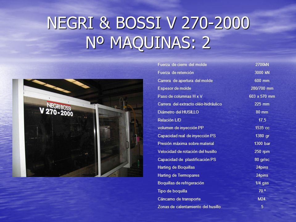NEGRI & BOSSI V 270-2000 Nº MAQUINAS: 2