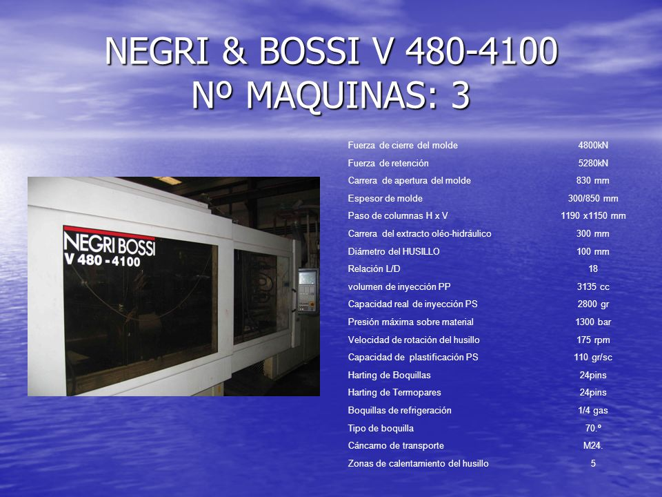 NEGRI & BOSSI V 480-4100 Nº MAQUINAS: 3