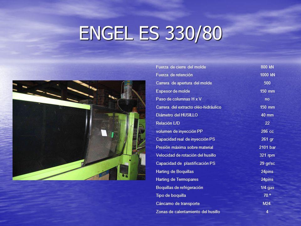 ENGEL ES 330/80 Fuerza de cierre del molde 800 kN Fuerza de retención